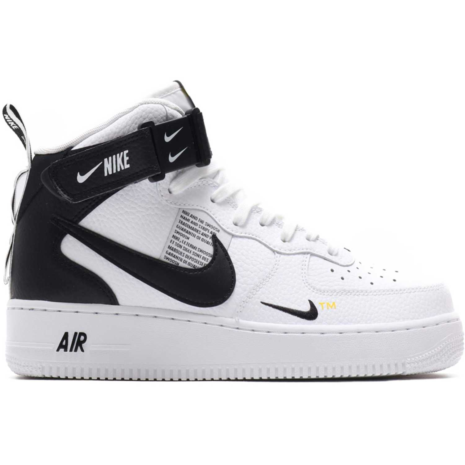 Ballerinas de Mujer Nike Blanco / negro air force 1 mid '07 lv8