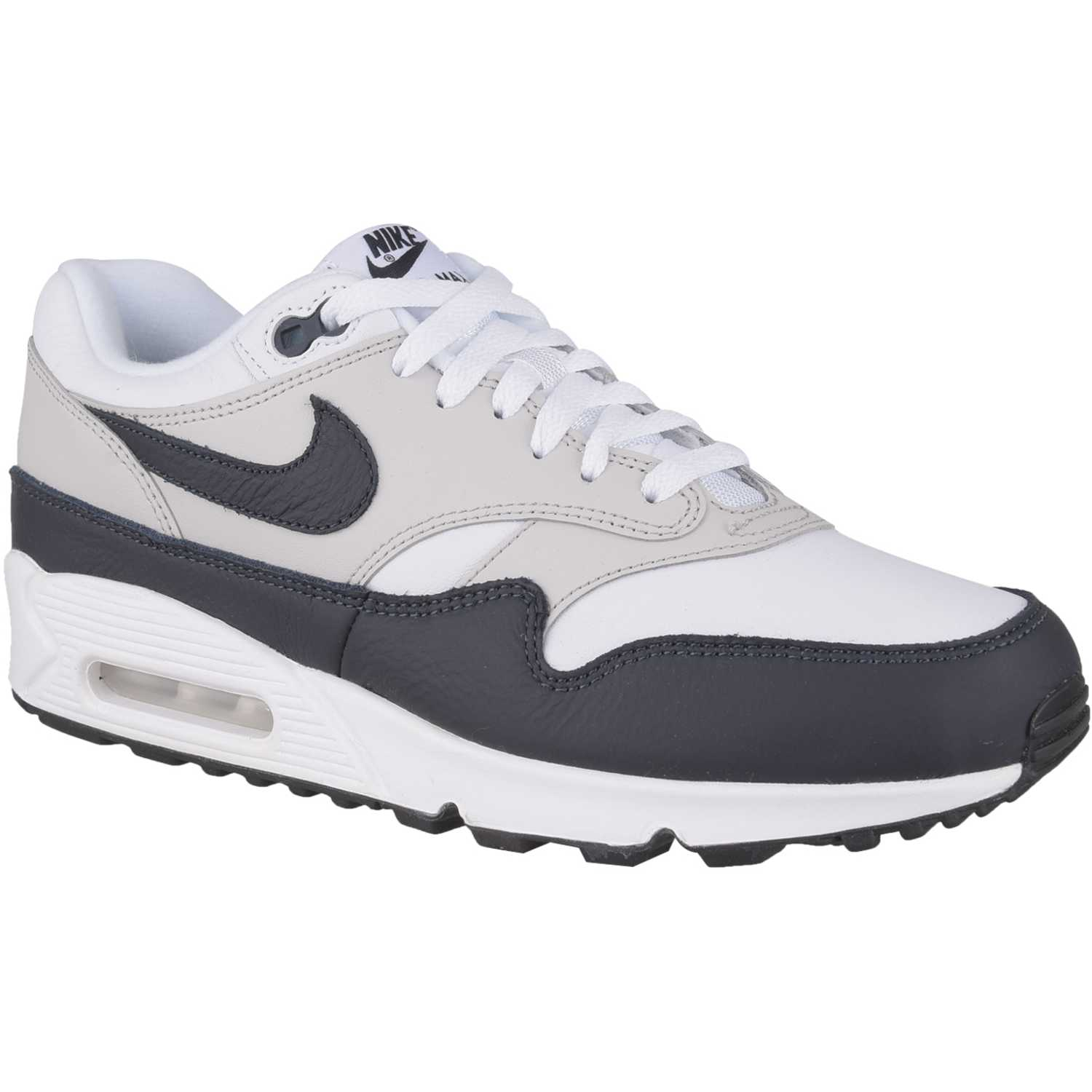 Frenesí Perca Flexible  Nike air max 90/1 Blanco / negro Walking | platanitos.com