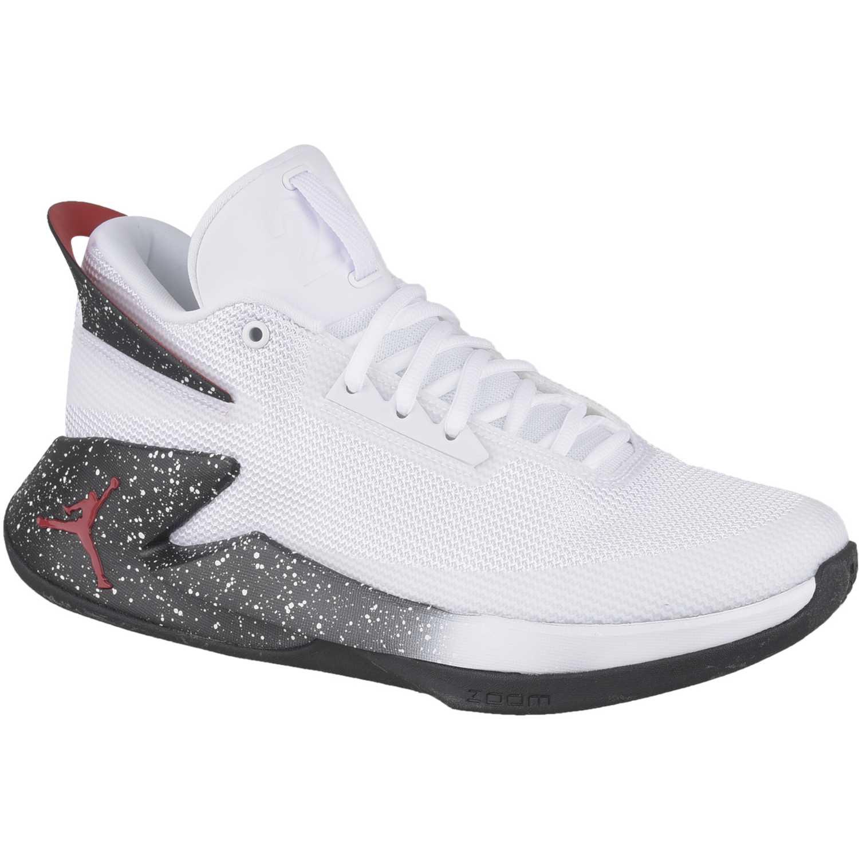 Cuña de Mujer Nike Blanco / negro jordan fly lockdown