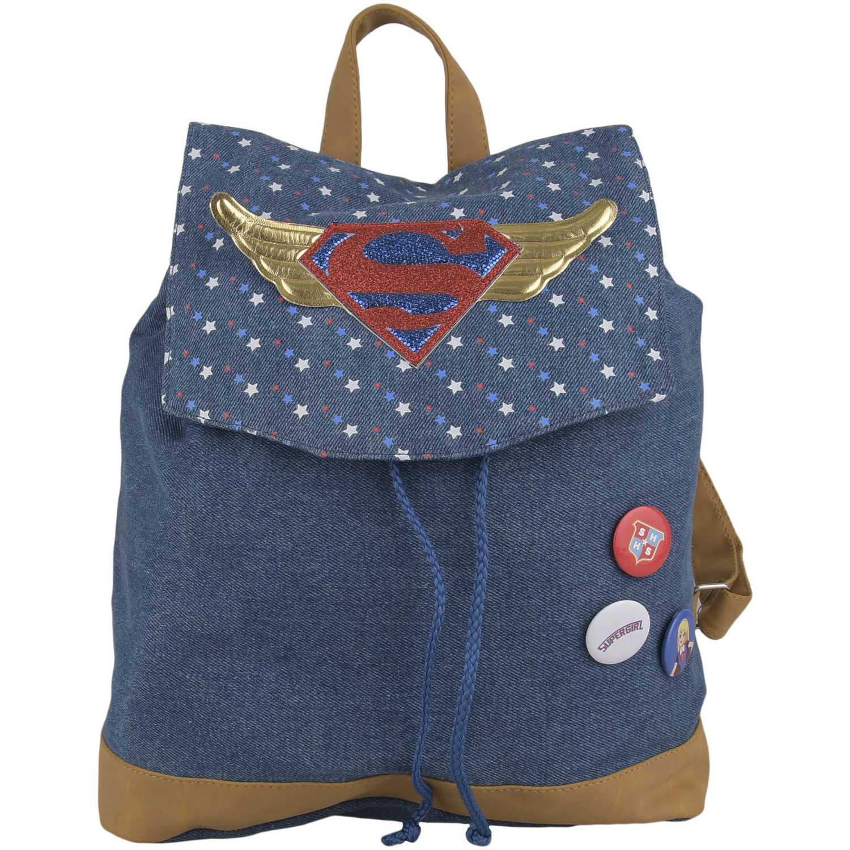 Wonder Woman Mochila teens Dc Super Hero Girls Azul mochilas