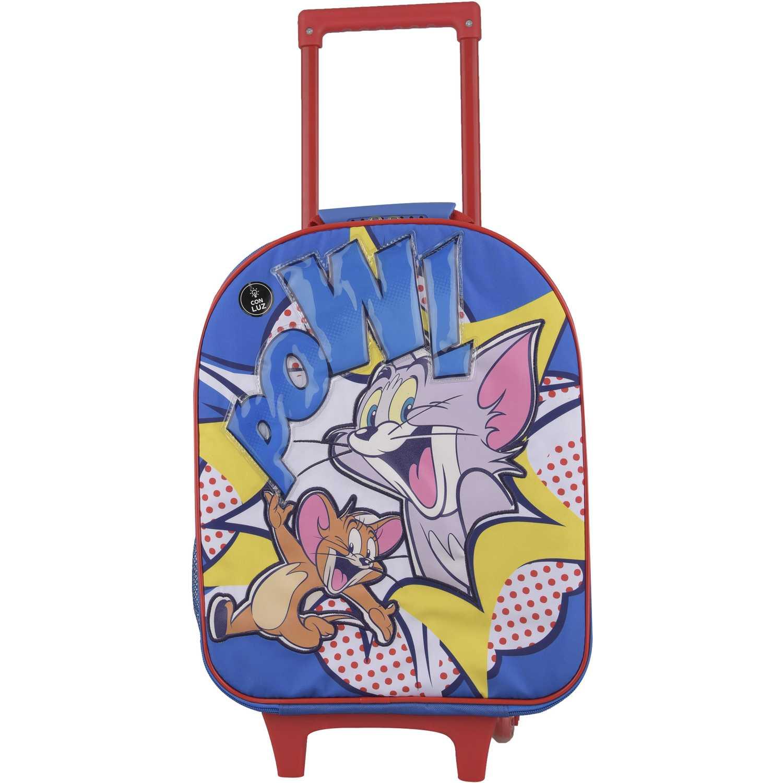 TOM & JERRY Mochila Con Ruedas Tom & Jerry Pow Negro / amarillo Maletas para niñas y niños