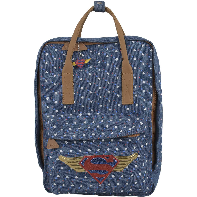 Wonder Woman mochila cuadrada dc super hero girls Azul mochilas