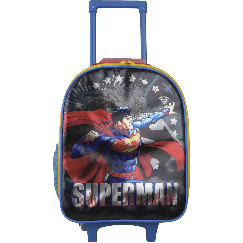 SUPERMAN Mochila Con Ruedas Superman Estrellas Azul / rojo Maletas para niñas y niños