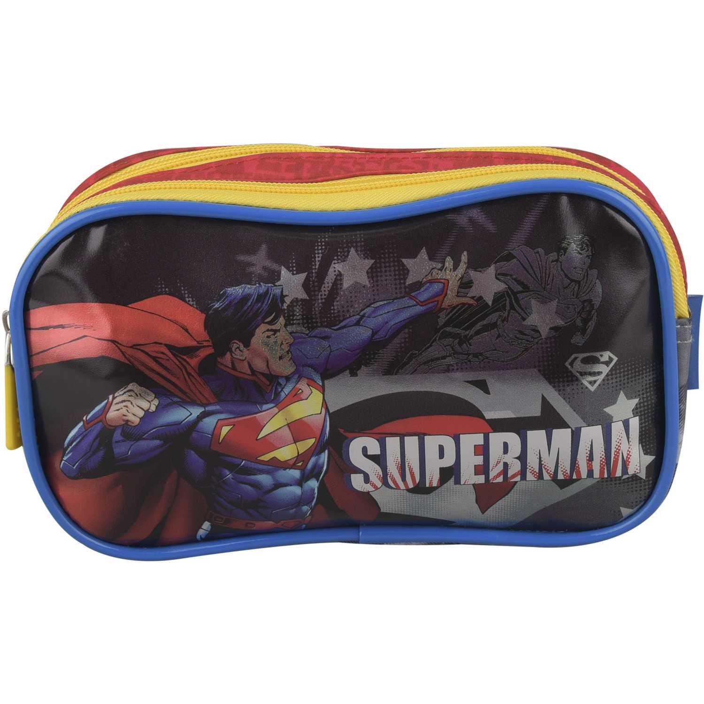 SUPERMAN Cartuchera 2 Cierres Superman Estrellas Azul / rojo Portalápices