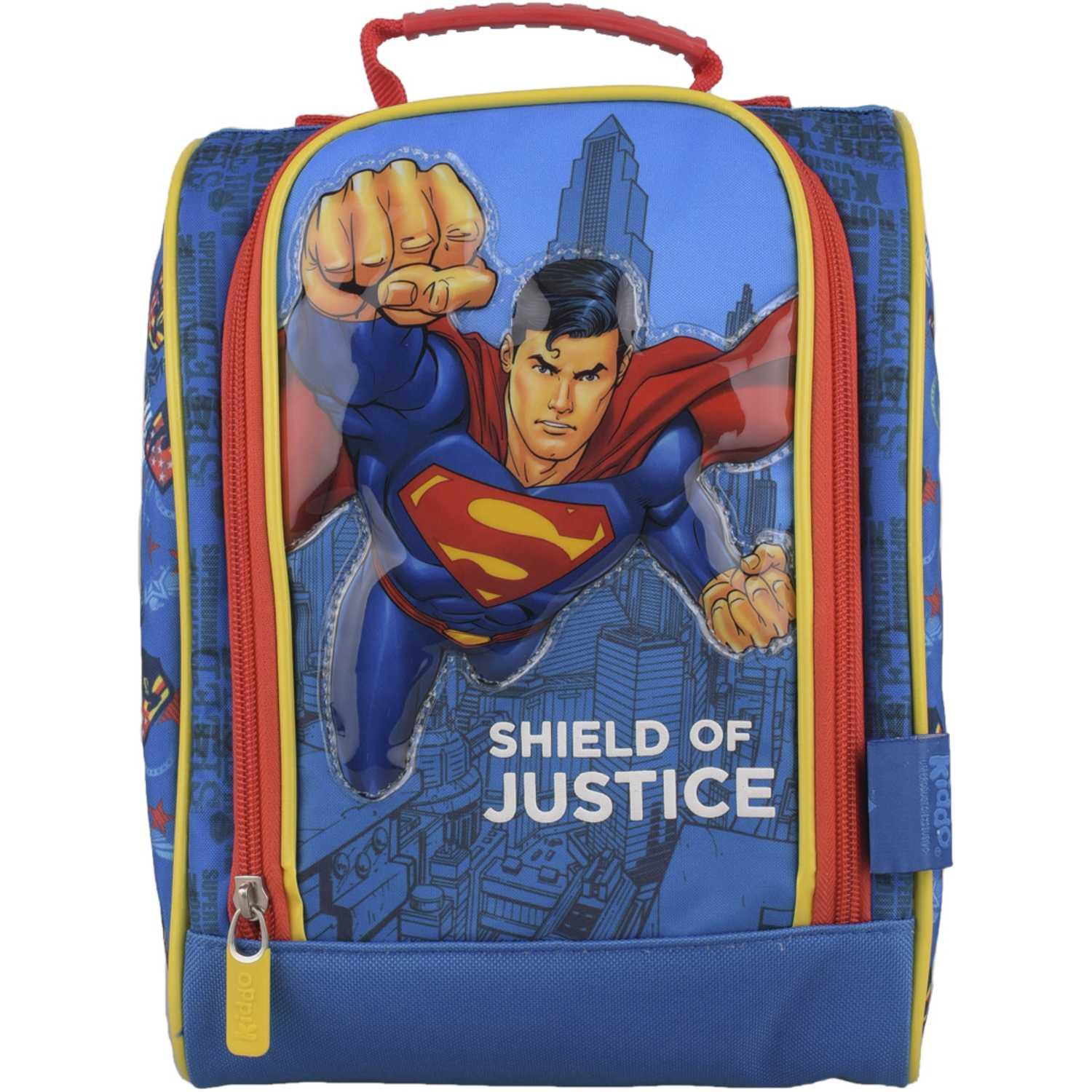 SUPERMAN Lonchera HK Superman puño Celeste / rojo Loncheras