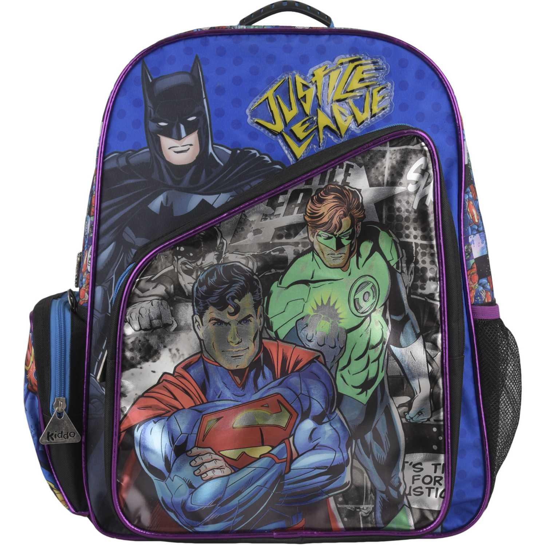 Liga De La Justicia mochila justice league metalizado Negro / azul mochilas