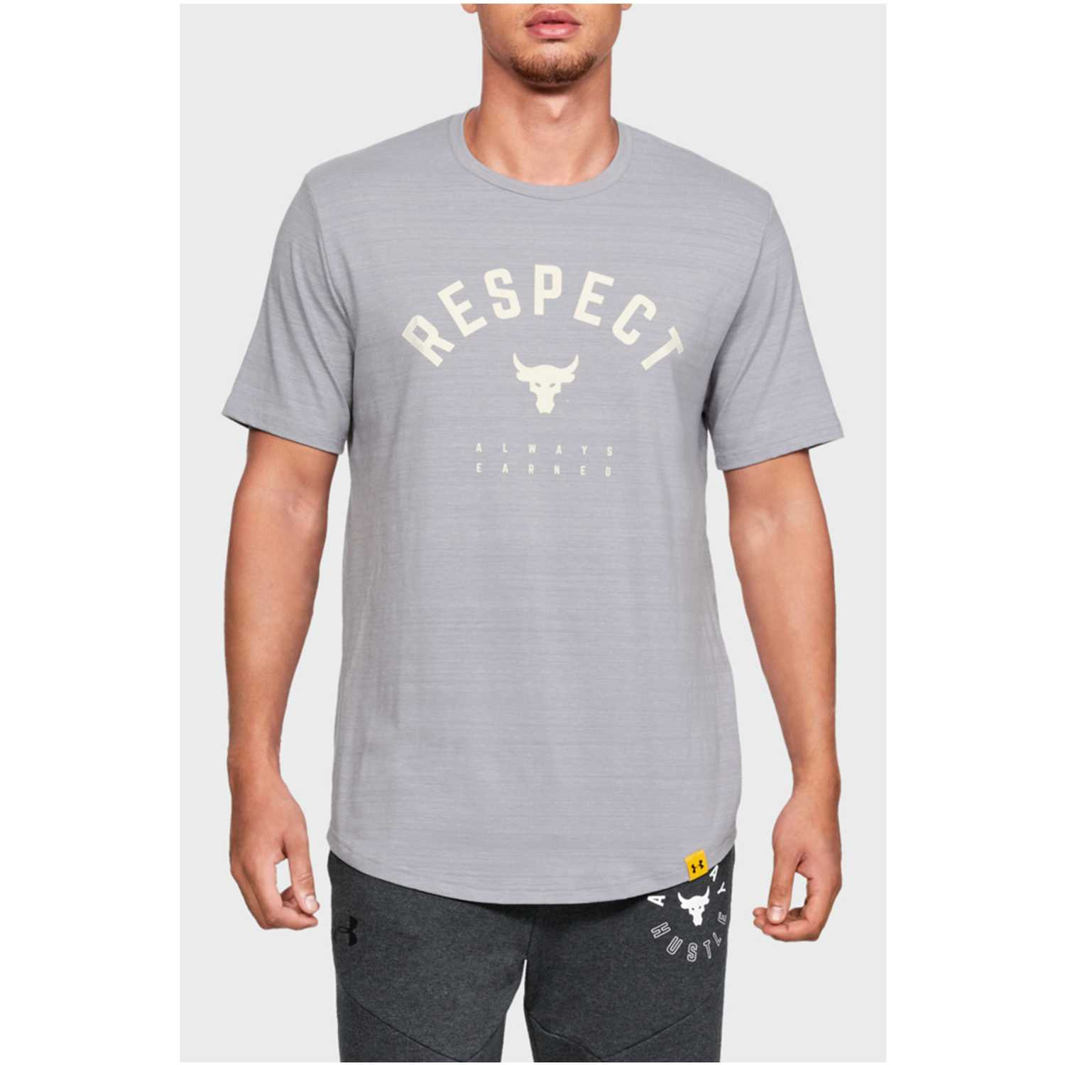 Under Armour project rock respect tee-gry Gris Camisetas y Polos Deportivos