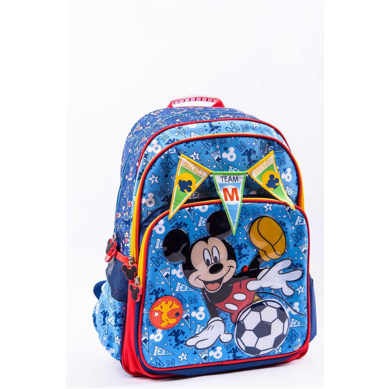 Mickey 9 SCOOL MICKEY MOCHILA TELA C/PVC 3 BOLSI Azul mochilas