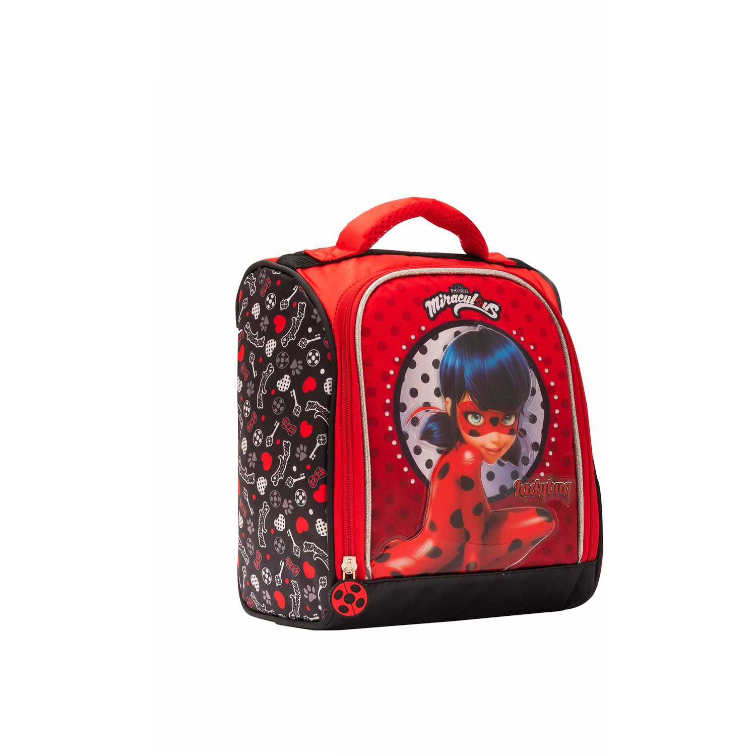 Lonchera de Niña Scool Rojo 9 scool lady bug lonch tela c/pvc bolso