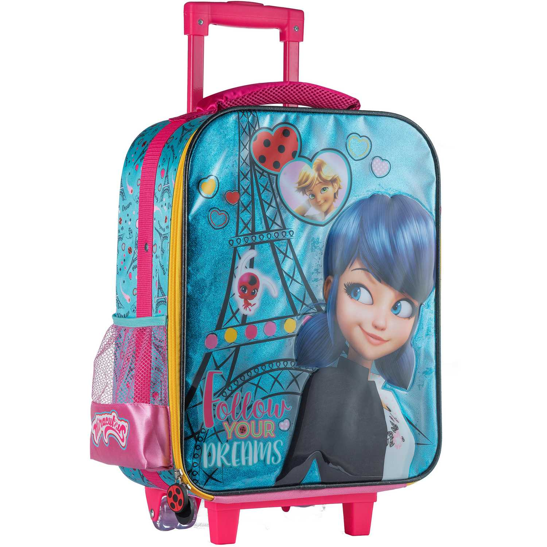 Mochila con ruedas de Niña Scool Celeste 9 scool lady bug maleta glitter c/ pvc gde