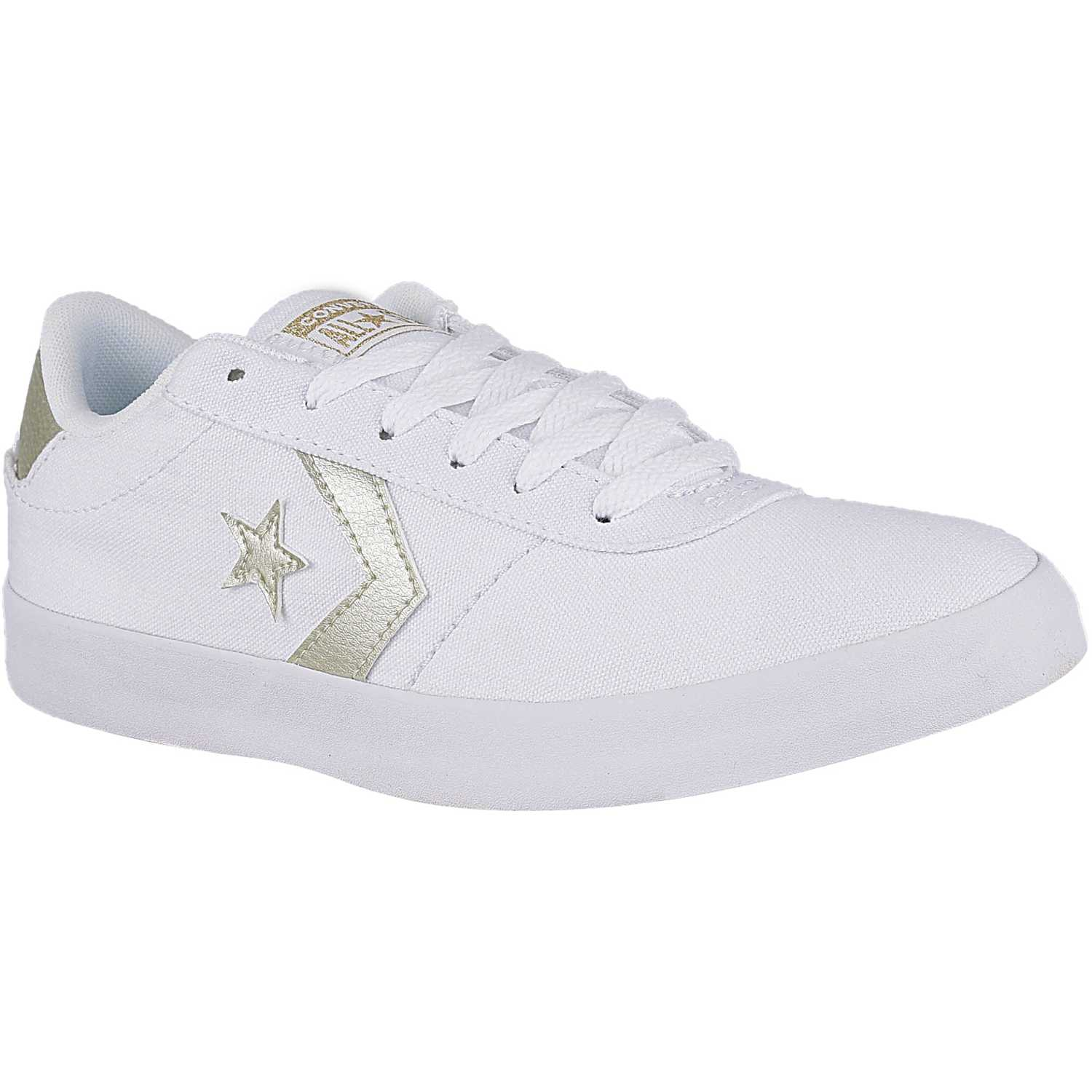 Zapatilla de Mujer Converse Blanco / gris point star canvas metallic