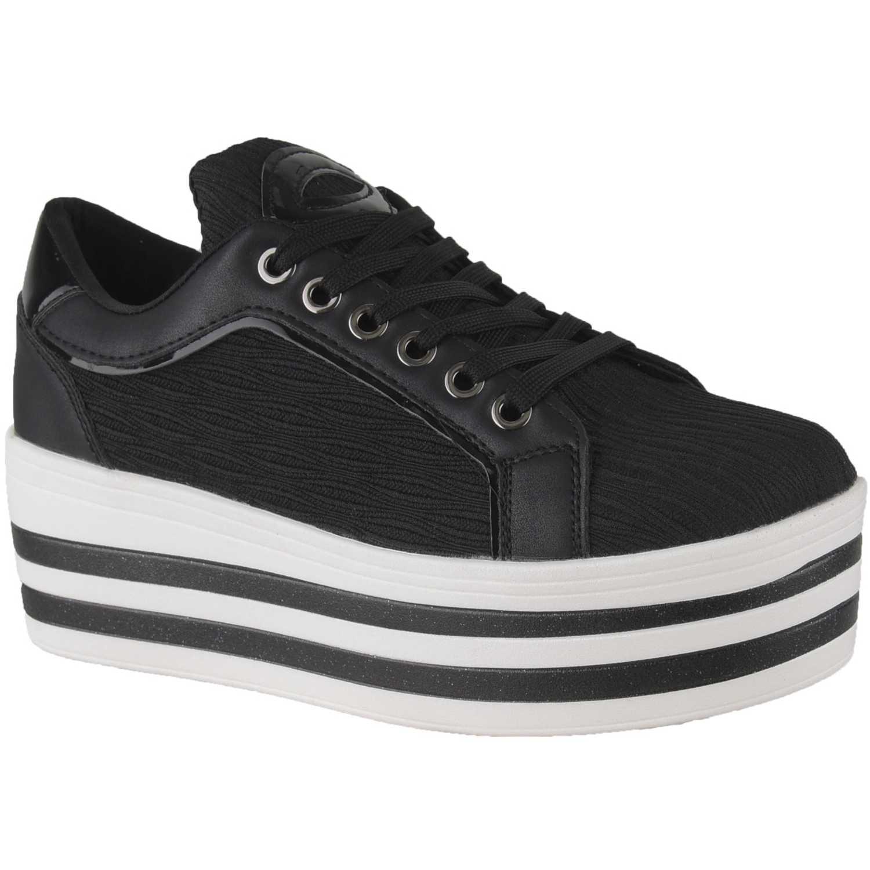 Zapatillas de Mujer Platanitos Negro zc 8288