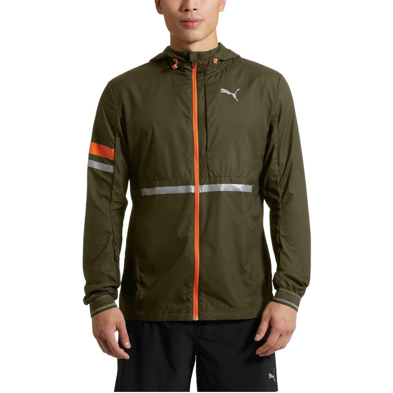 Puma lastlap jacket Verde/naranja Trinchera y Lluvia