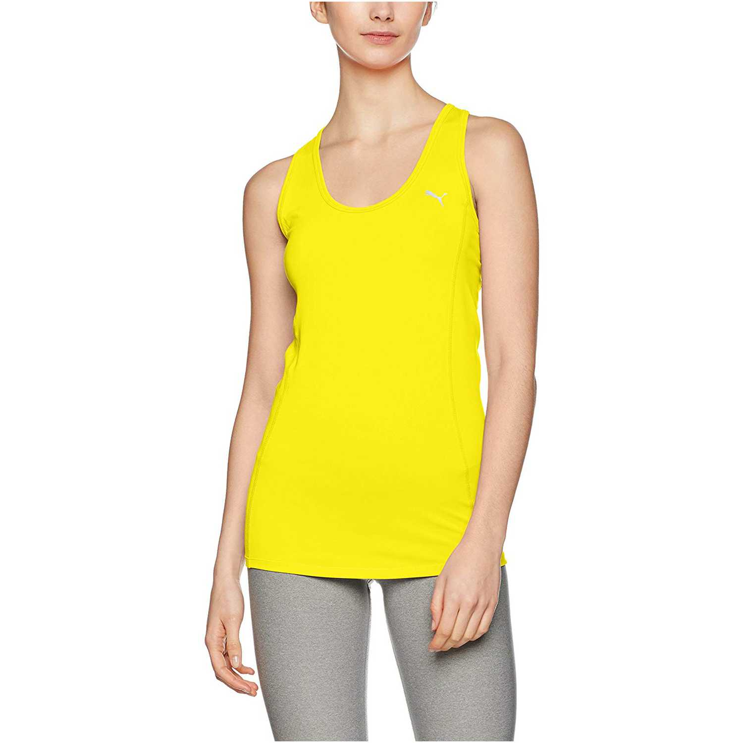 Puma essential layer tank Amarillo Tank Tops