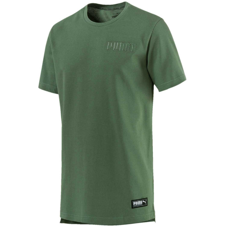 Puma athletics premium tee Verde Camisetas y Polos Deportivos