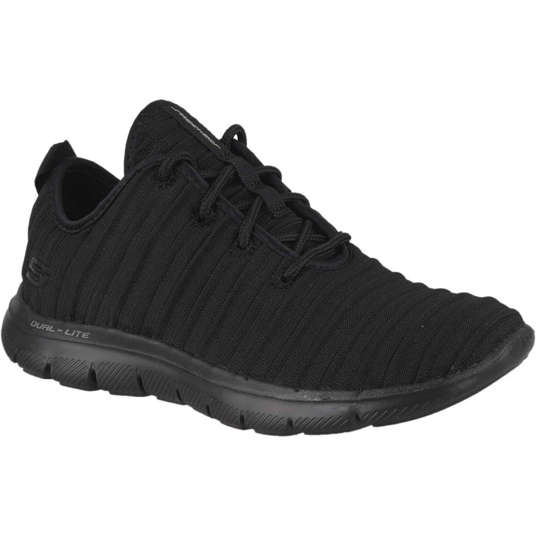 Skechers flex appeal 2.0 Negro / negro Walking