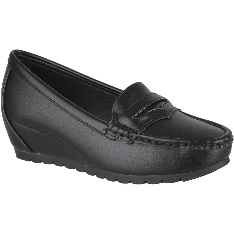 Platanitos mw 1d2 Negro Mocasines y Slip-Ons