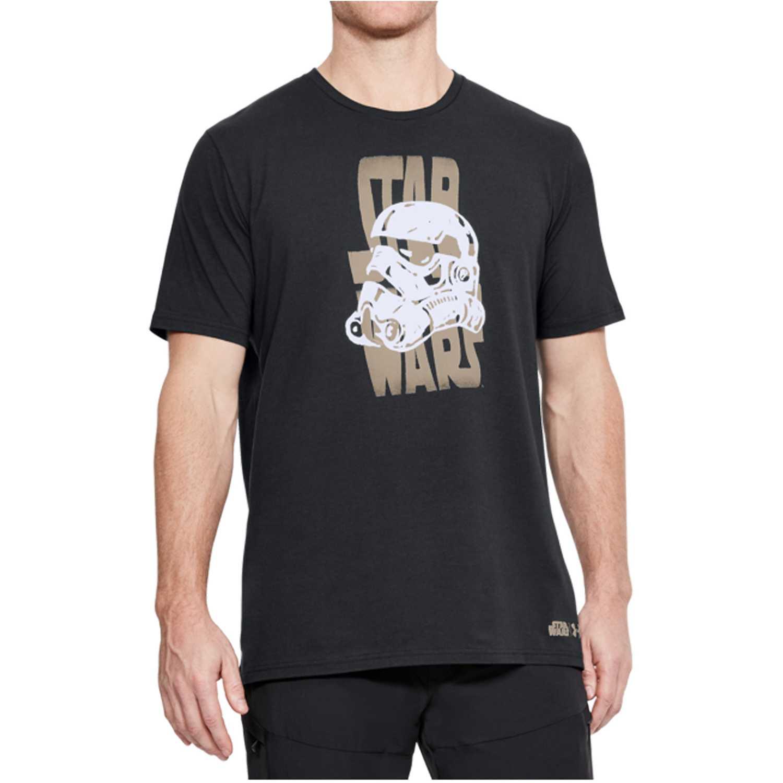Under Armour star wars warp ss Negro Camisetas y Polos Deportivos