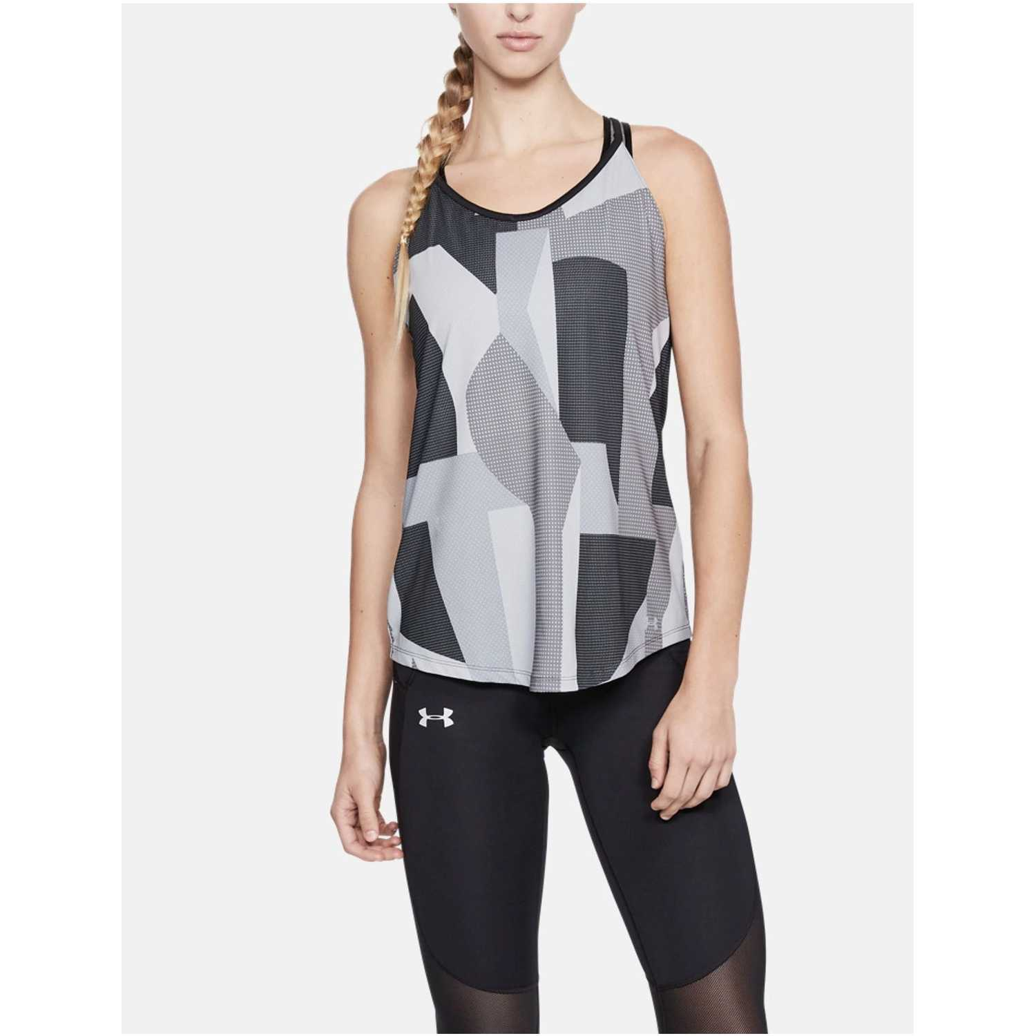Under Armour Speed Stride Printed Tank Gris Tank Tops
