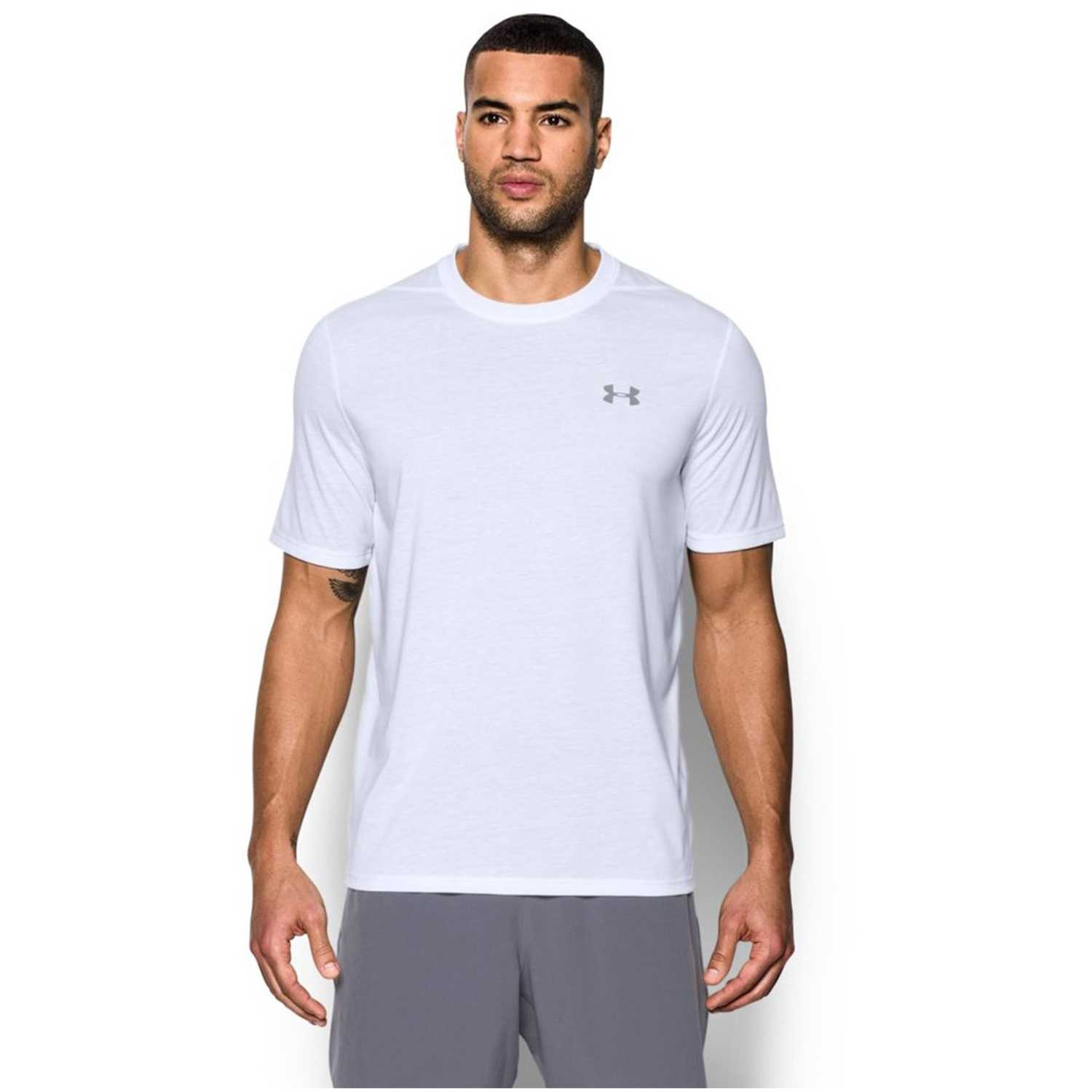 Polo de Hombre Under Armour Blanco ua threadborne ss