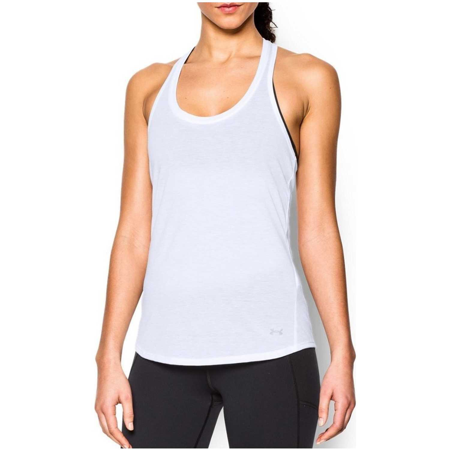 Under Armour Threadborne Streaker Tank Blanco Tank Tops