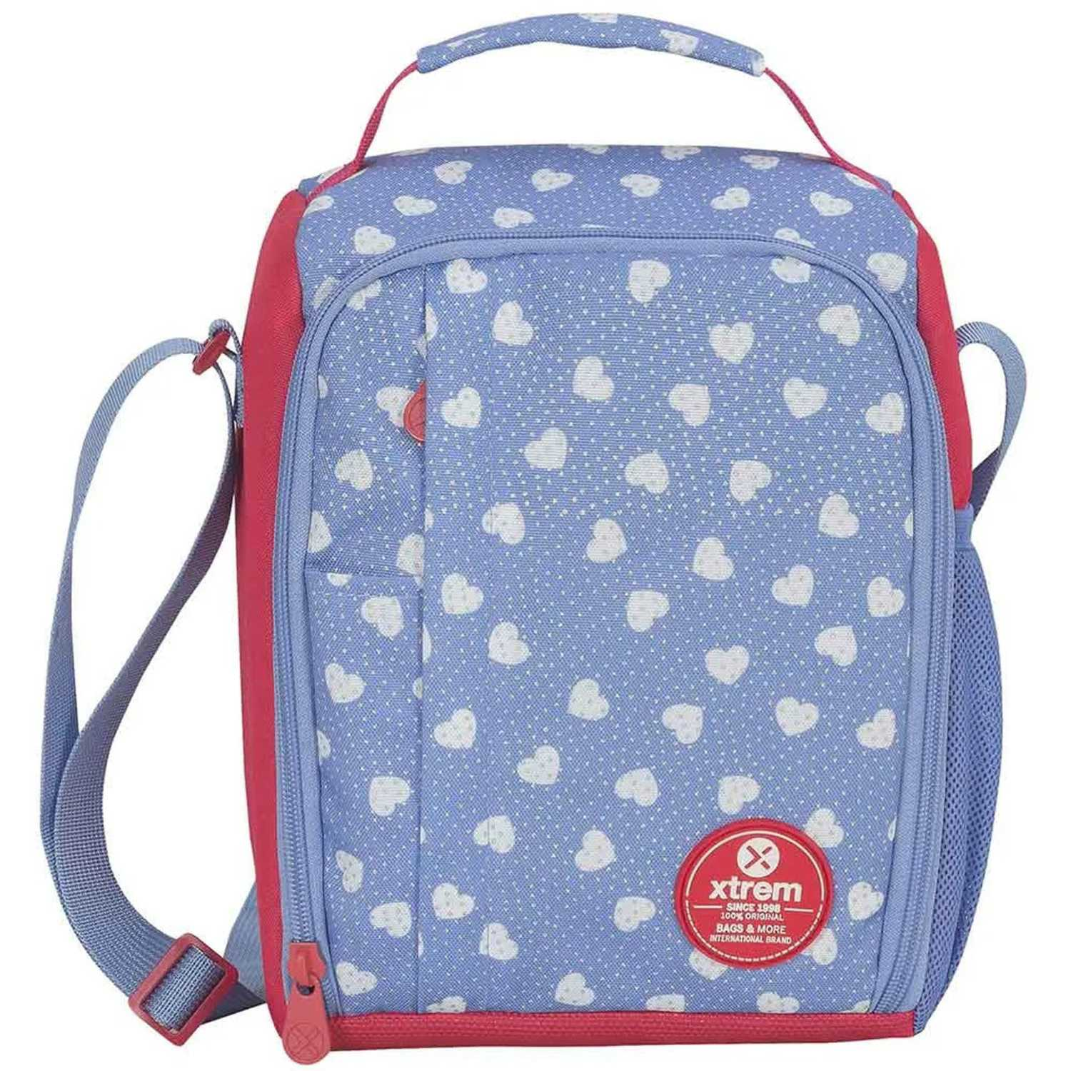 Loncheras de Niña Xtrem Rojo / celeste lunch bag sweethearts lunch 844