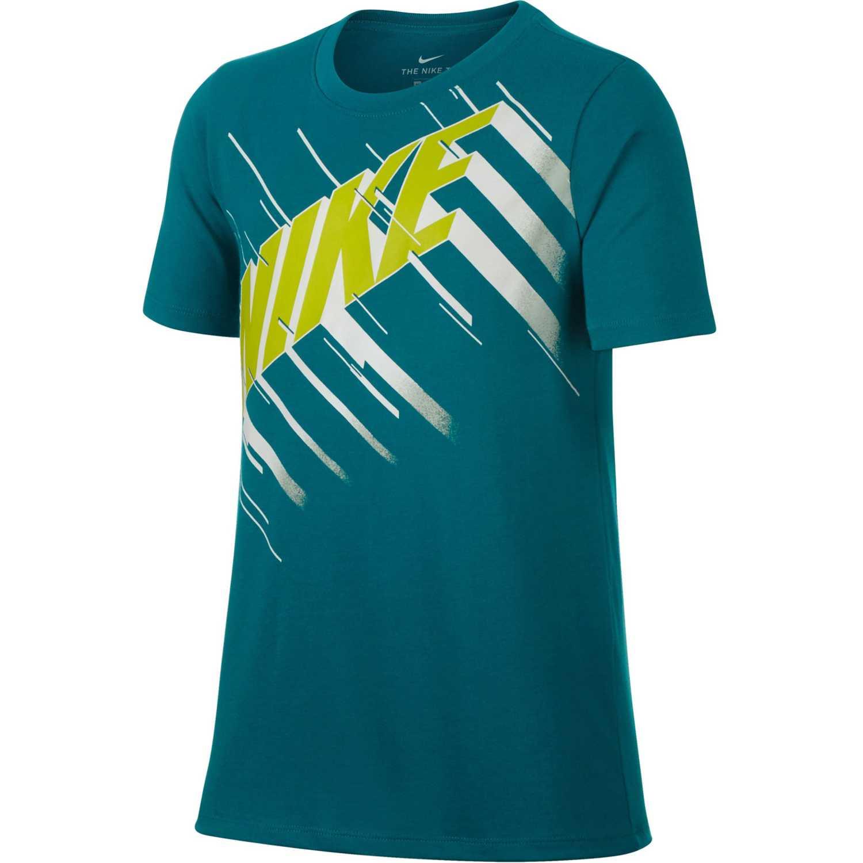 Nike b nk dry tee df speed block Verde Camisetas y Polos Deportivos