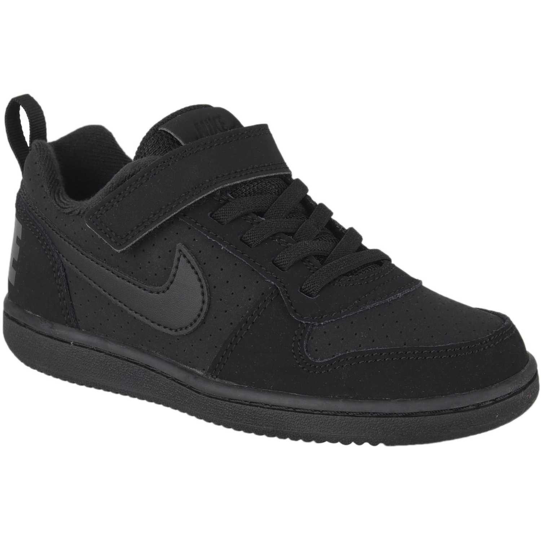Nike nike court borough low bpv Negro / negro Walking