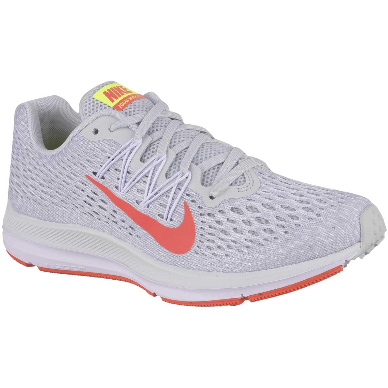 Nike WMNS NIKE ZOOM WINFLO 5 Gris / naranja Running en pista
