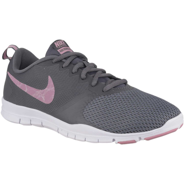 Nike wmns nike flex essential tr Gris / rosado Mujeres