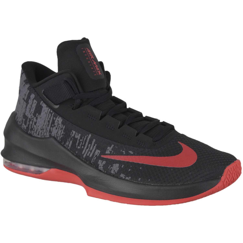 Nike air max infuriate 2 mid Negro / rojo Hombres ...
