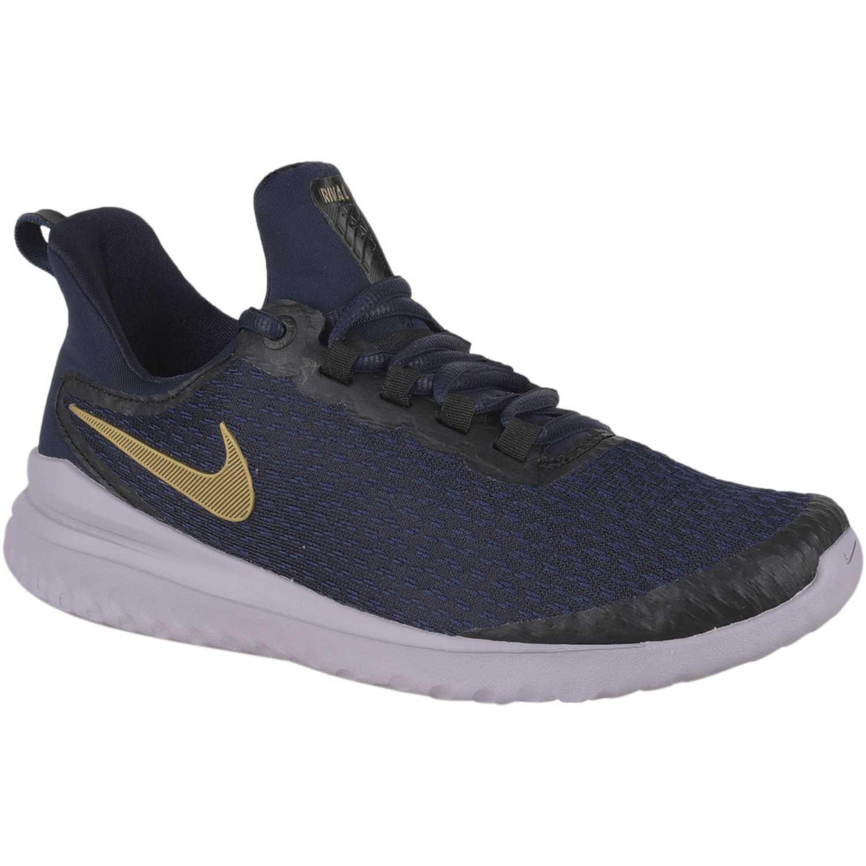 zapatos de otoño Venta barata proporcionar un montón de Nike wmns nike renew rival Azul/dorado Running en pista ...