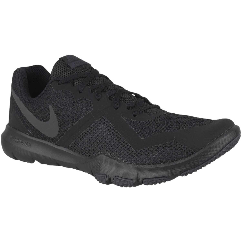 Zapatilla de Hombre Nike Negro / plomo nike flex control ii