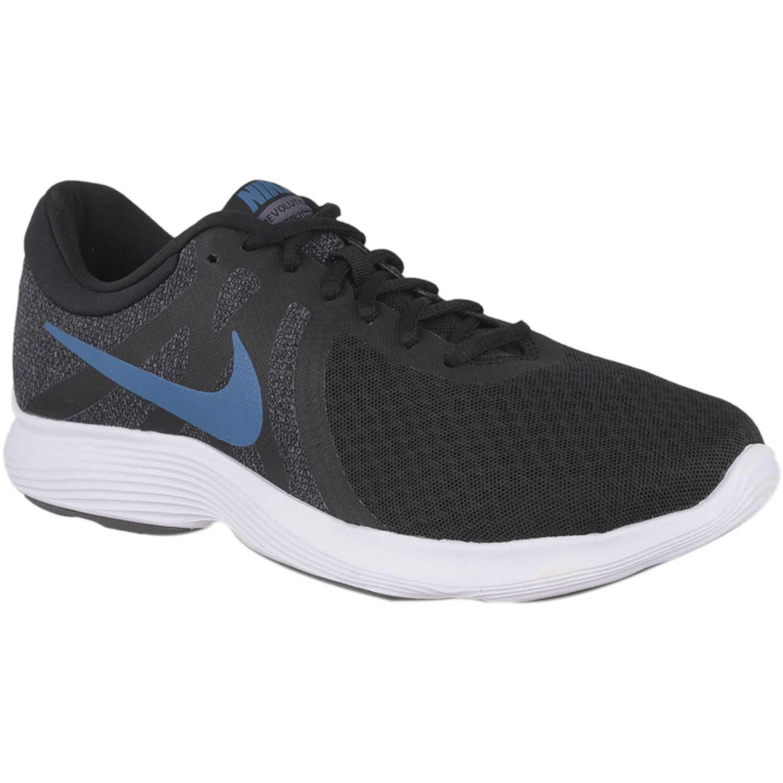 Zapatilla de Hombre Nike Negro / celeste nike revolution 4