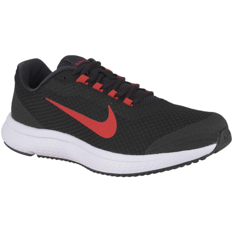 Nike nike runallday Negro / rojo Running en pista