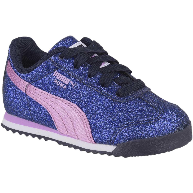 Puma roma glamour inf Azul / rosado Walking
