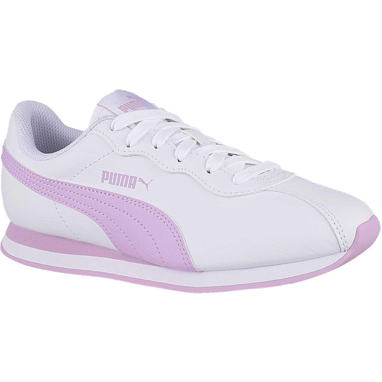 Zapatilla de Jovencita Puma Blanco / rosado puma turin ii