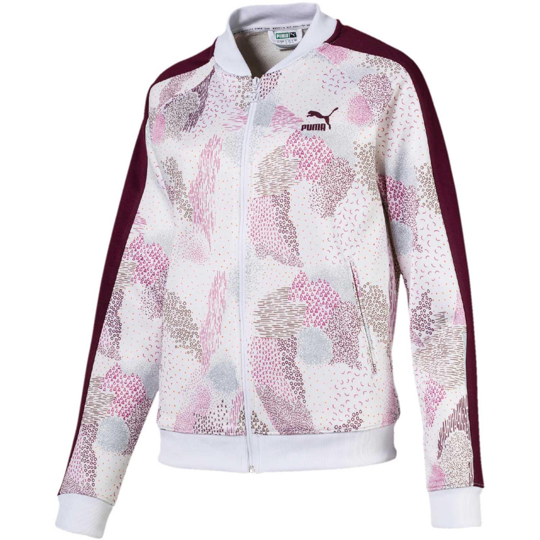 Base de Mujer Puma Blanco / rosado classics t7 track jacket aop
