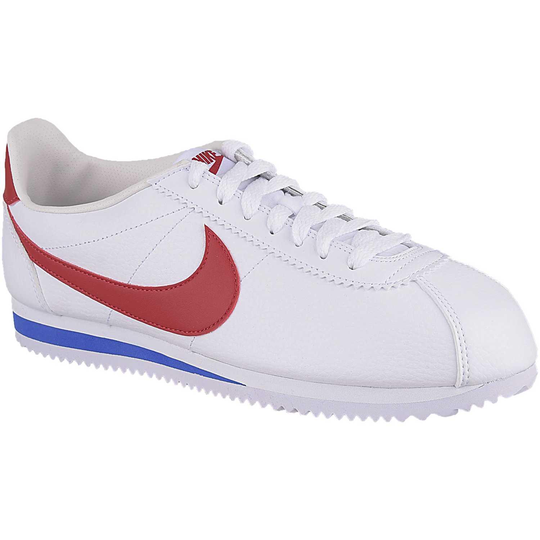 Nike classic cortez leather Blanco / rojo Walking