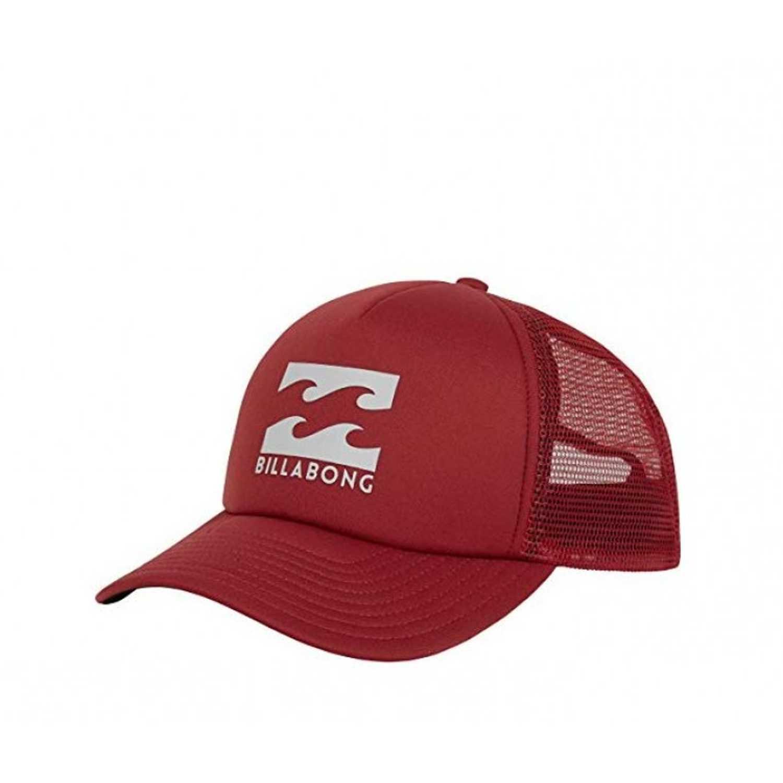 Billabong podium trucker Rojo / gris Gorros de Baseball