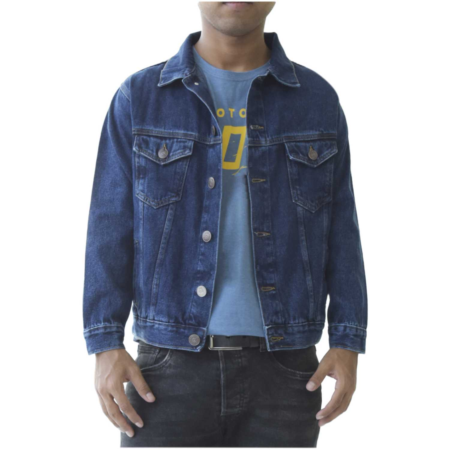 CUSTER casaca m Dark acid Denim