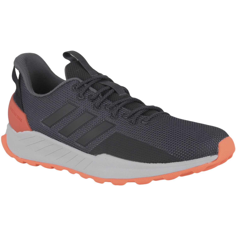 Adidas questar trail Plomo / naranja Running en pista