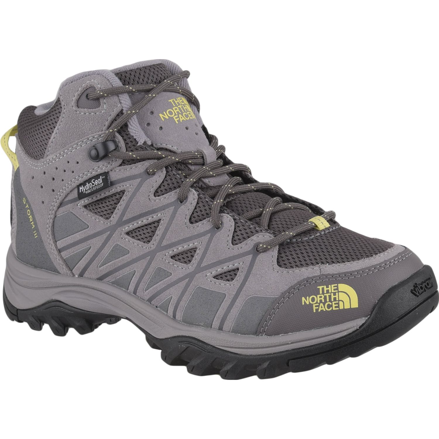 The North Face w storm iii mid wp Gris / amarillo Calzado hiking