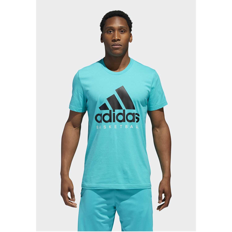 Adidas adi bb gfx tee Celeste Camisetas y Polos Deportivos