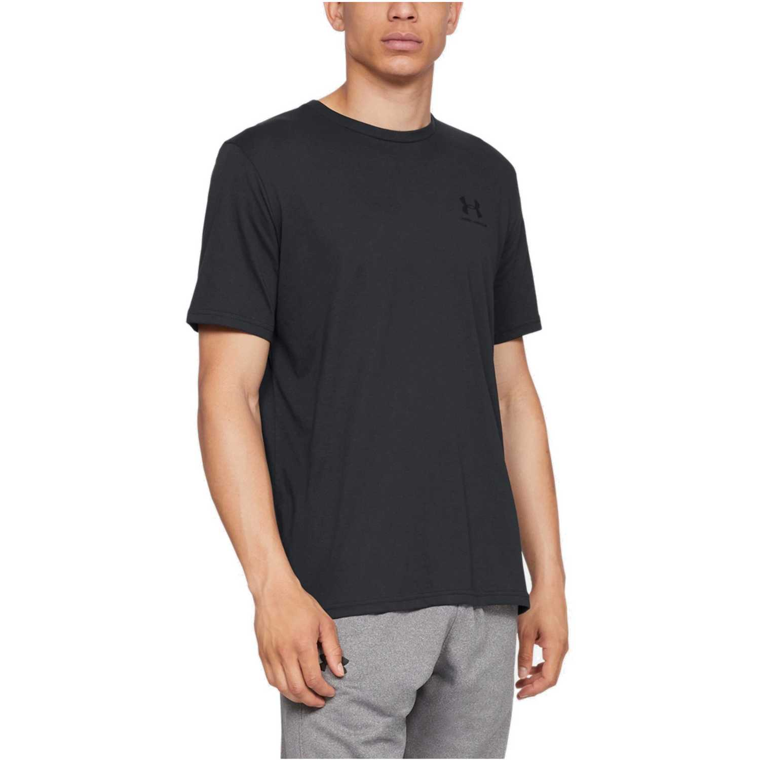 Under Armour sportstyle left chest ss-blk Negro Camisetas y Polos Deportivos
