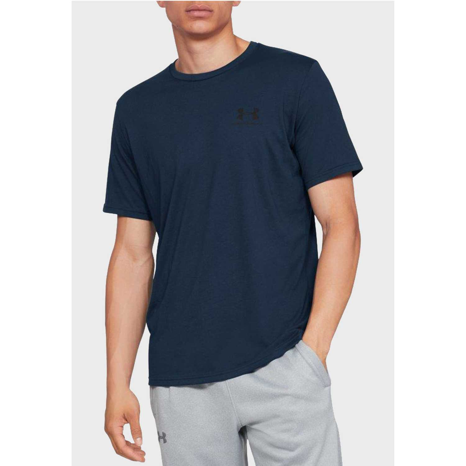 Under Armour Sportstyle Left Chest Ss-Nvy Acero Camisetas y Polos Deportivos