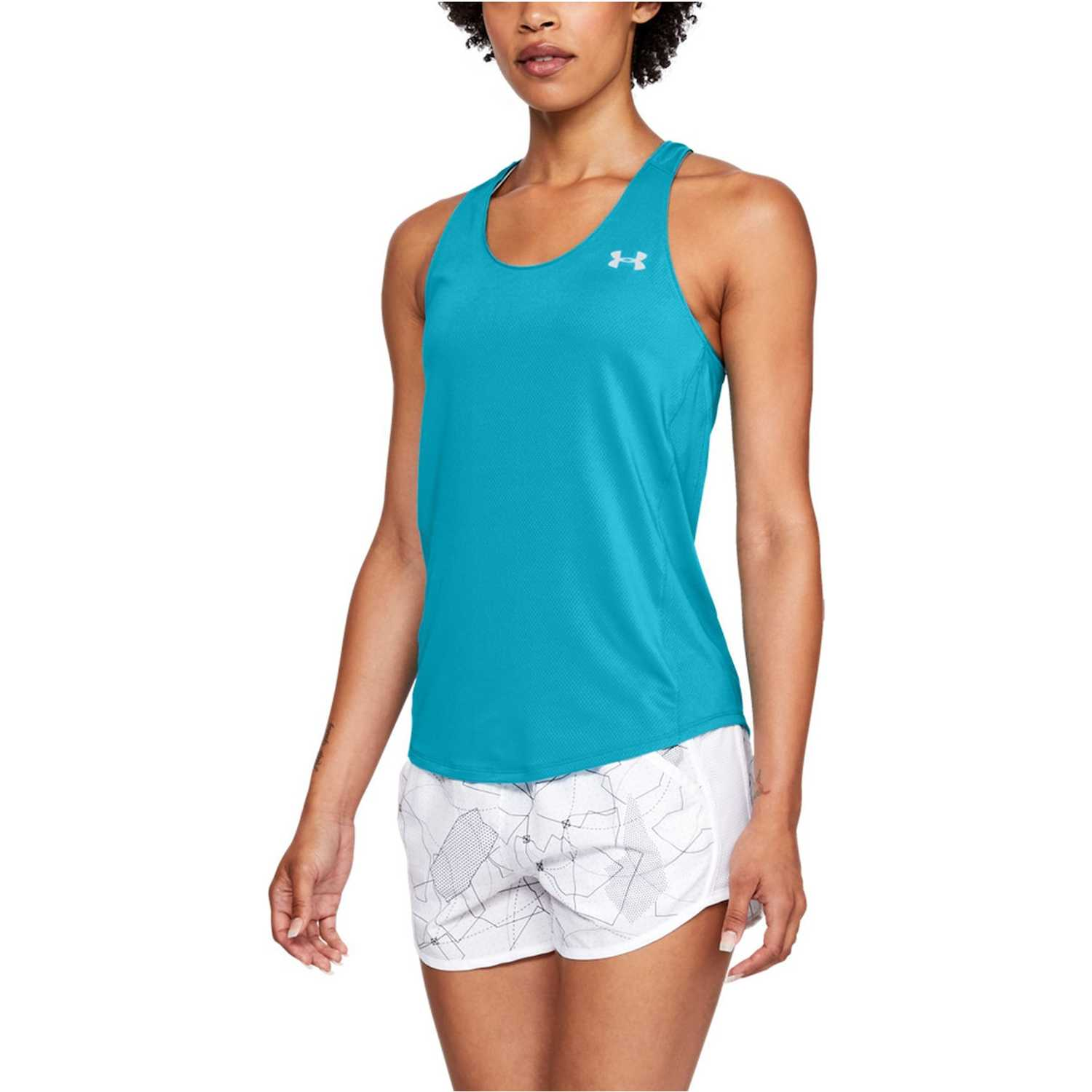 Under Armour Speed Stride Tank-Blu Turquesa Tank Tops