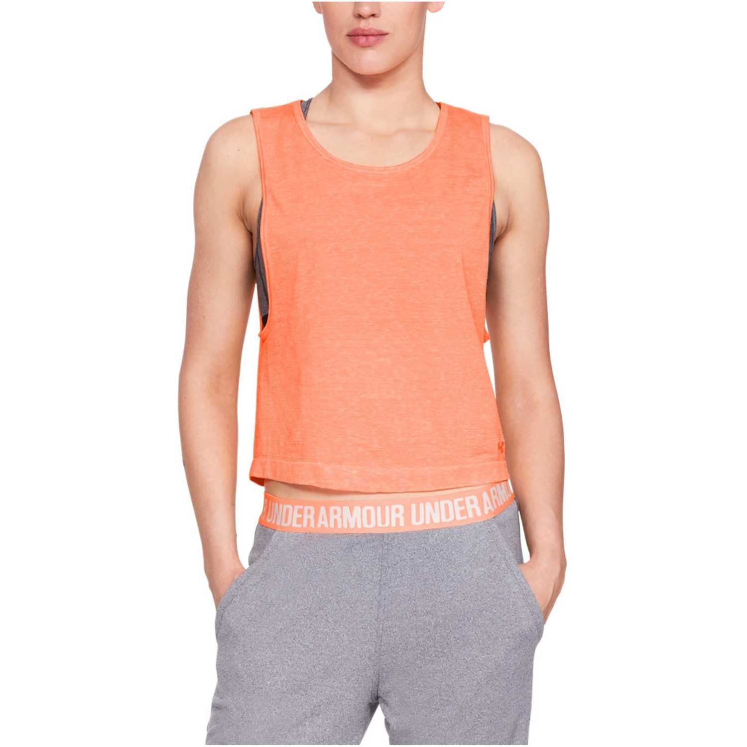 Under Armour TB Seamless Muscle Spacedye Tank-ORG Naranja Tank Tops