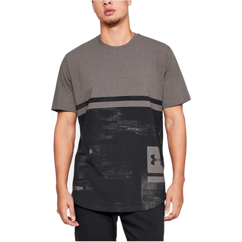 Under Armour UA Sportstyle Print SS-BRN Negro / plomo Camisetas y Polos Deportivos