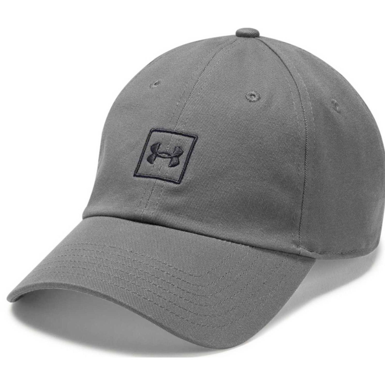 Under Armour men's washed cotton cap-gry Negro Gorros de Baseball